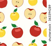 apples seamless pattern | Shutterstock .eps vector #363394289