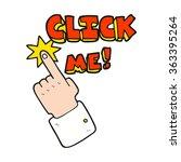 click me freehand drawn cartoon ... | Shutterstock . vector #363395264