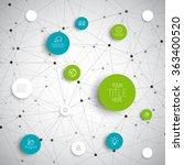 vector abstract circles...   Shutterstock .eps vector #363400520