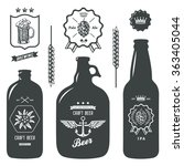 vintage craft beer brewery... | Shutterstock . vector #363405044