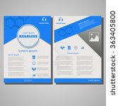 blue colour brochure flyer...   Shutterstock .eps vector #363405800