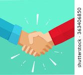 shaking hands business vector... | Shutterstock .eps vector #363406850