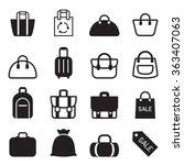 bag icon  | Shutterstock .eps vector #363407063