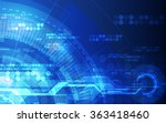 abstract futuristic digital... | Shutterstock .eps vector #363418460