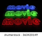 movie neon sign set isolated on ... | Shutterstock . vector #363420149
