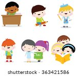 children and education for... | Shutterstock .eps vector #363421586