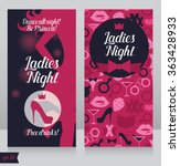 card for ladies night party... | Shutterstock .eps vector #363428933