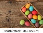 Easter Eggs Basket   Wooden...