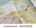 travel. traveling map on the... | Shutterstock . vector #363430028