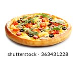 Delicious Pizza  Isolated On...