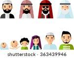 set of age group arabic avatars ... | Shutterstock .eps vector #363439946