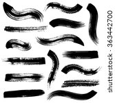 big vector black brush strokes... | Shutterstock .eps vector #363442700
