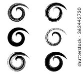 spiral vector black brush... | Shutterstock .eps vector #363442730