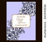 romantic invitation. wedding ...   Shutterstock .eps vector #363443036