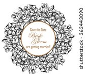romantic invitation. wedding ... | Shutterstock .eps vector #363443090
