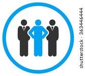 team leader vector icon. style... | Shutterstock .eps vector #363446444