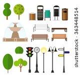 street city flat design... | Shutterstock .eps vector #363448514