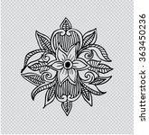 floral illustration. hand... | Shutterstock .eps vector #363450236