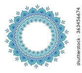hand drawn abstract turquoise...   Shutterstock .eps vector #363456674