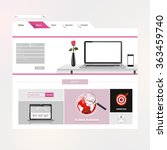 website design template for... | Shutterstock .eps vector #363459740