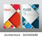 business brochure flyer design... | Shutterstock .eps vector #363460688