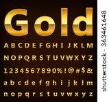 gold alphabet | Shutterstock .eps vector #363461648