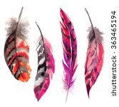 feathers painted with... | Shutterstock . vector #363465194