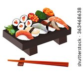 food illustration  japanese... | Shutterstock . vector #363468638