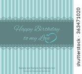 cover template for birthday ... | Shutterstock .eps vector #363471020