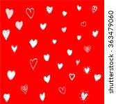 hand drawn doodle valentines... | Shutterstock .eps vector #363479060