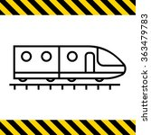 subway train icon | Shutterstock .eps vector #363479783