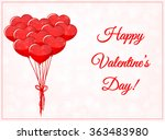 valentines day card with... | Shutterstock .eps vector #363483980