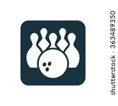 bowling icon  on white... | Shutterstock .eps vector #363489350