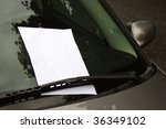 Empty page with copy space on windscreen - stock photo