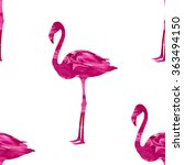 seamless flamingo bird pattern  ... | Shutterstock .eps vector #363494150