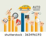 auto maintenance services.... | Shutterstock .eps vector #363496193