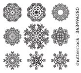set of ornaments. vector... | Shutterstock .eps vector #363496280