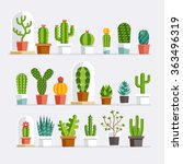 cactus flat style. vector... | Shutterstock .eps vector #363496319