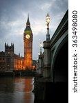 Big Ben Clock Tower And...
