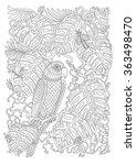 exotic bird  fantastic tropical ... | Shutterstock .eps vector #363498470