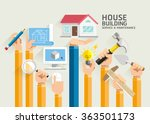 house building service and... | Shutterstock .eps vector #363501173