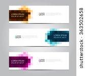 vector design banner... | Shutterstock .eps vector #363502658