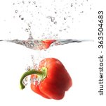 Red Pepper  Paprika In Water...