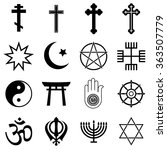 religion icons | Shutterstock .eps vector #363507779