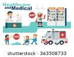 vector illustration drugstore...   Shutterstock .eps vector #363508733