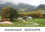 a winding country road curves... | Shutterstock . vector #363516596