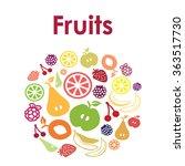 vector illustration   fruits  ... | Shutterstock .eps vector #363517730