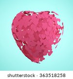 valentines day with abstract... | Shutterstock . vector #363518258