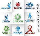 collection of vector logo...   Shutterstock .eps vector #363518360
