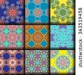vector seamless pattern ethnic... | Shutterstock .eps vector #363519458